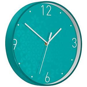 Nástěnné hodiny Leitz WOW, ledově modré