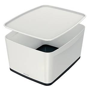 Leitz MyBox säilytyslaatikko L kannellinen valkoinen/ musta