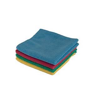 Pack de 4 bayetas microfibra - 40 x 38 cm - Colores surtidos
