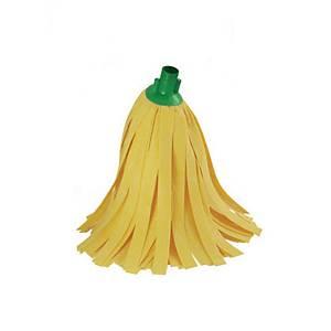 Esfregona de tiras amarelas - 30 cm