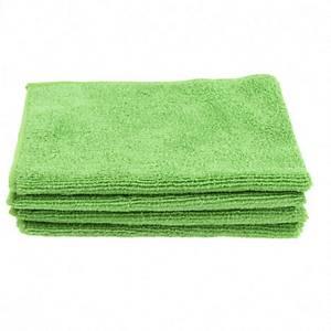 Pack de 5 panos de microfibra - 40 x38 cm - Verde