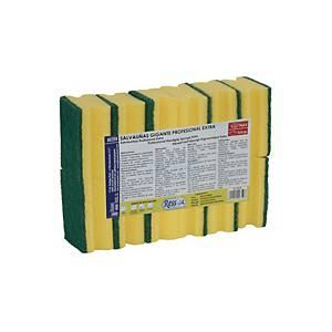 Pack de 12 esfregões 7 x 9 cm