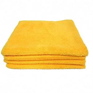 Pack de 5 panos de microfibra - 40 x38 cm - Amarelo
