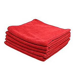 Pack de 5 bayetas microfibra - 40 x 38 cm - Rojo