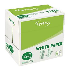 LYRECO COPY PAPER 100%PEFC A4 80G - WHITE - REAM OF 500 SHEETS