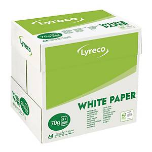 LYRECO COPY PAPER 100%PEFC A4 70G - WHITE - REAM OF 500 SHEETS