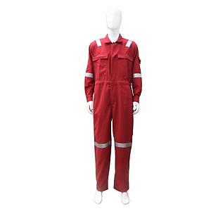 TEIJINCONEX ชุดหมีกันไฟ ผ้าเทยิน 6 ออนซ์ S สีแดง