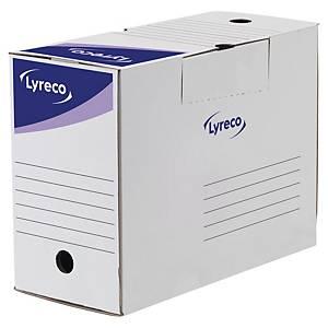 Lyreco áthelyezhető archiváló doboz, 15 cm, fehér, 25 darab/csomag