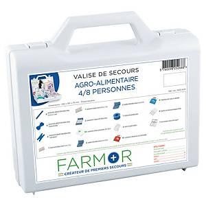 Valise de secours spéciale agroalimentaire - 4/8 personnes - blanche