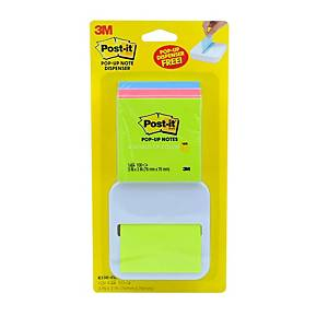 POST-IT R330-4VAD POP-UP NOTES WITH DISPENSER 3  X3   ASSTD NEON COL PK4