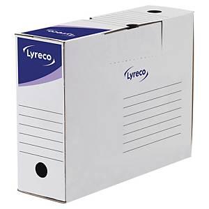 Boîte d'archives Lyreco, dos 10 cm, carton blanc, la boîte