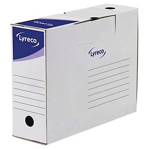 LYRECO WHITE ARCHIVE BOXES 260 X 100 X 340MM
