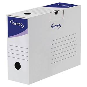 Lyreco Automatic Transfer File 100x338x245mm White - Pack Of 20