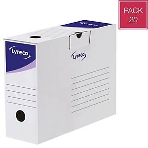 Caixa de arquivo Lyreco - A4 - lombada 100mm - branco