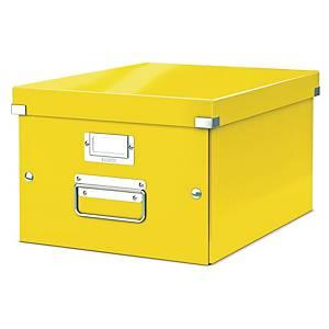 Archivbox Leitz 6044 WOW, Click n Store, Größe: M, Maße:  370x281x200mm, gelb