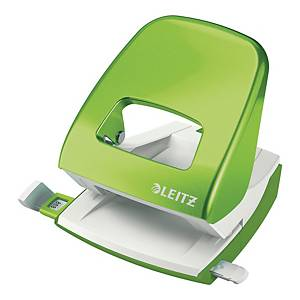 LEITZ 5008 WOW 2-HOLE PUNCH L/GREEN
