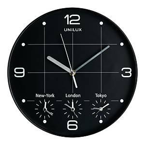 Zegar ścienny UNILUX On Time, 30,5 cm, czarny