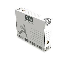 Lyreco Budget archiefdozen voor listings, rug 8 cm, per 25 dozen
