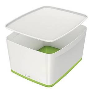 Contenitore Leitz MyBox® L con coperchio bianco/Verde lime