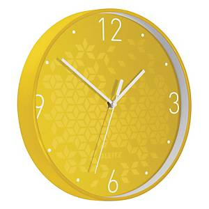 Orologio da parete WOW Leitz Ø 29 giallo