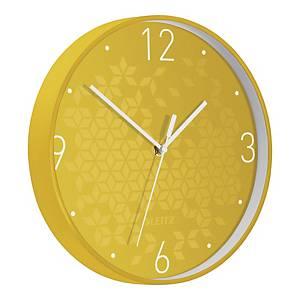 Zegar ścienny LEITZ WOW, 29 cm, żółty