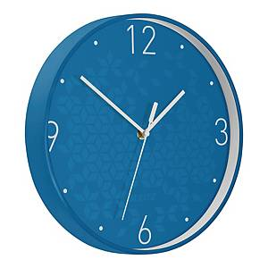 LEITZ 90150036 CLOCK WOW BLUE METAL