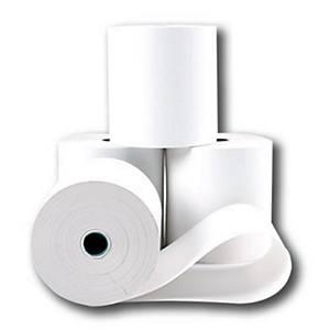 Bobine telex, 1 pli, papier blanc 60 g, l 21 cm x L 120 m, paquet de 6 rouleaux