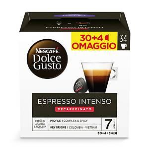 Caffè Espresso Intenso Decaffeinato Nescafè DolceGusto - conf   30 capsule