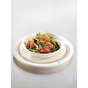 Piatti piani in fibra biodegradabile Duni ecoecho® ø 22 cm bianco - conf 50