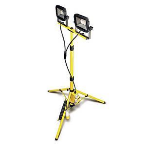 Luceco LSLTTWOS2181V-01 Tripod Work Light 2-Outlet