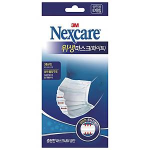 PK5 3M NEXCARE CLEAN MASK WH