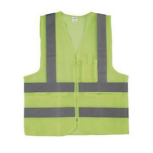 WC MESH SAFETY VEST XL L/GREEN