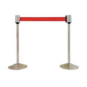 [직배송]국제안전공사 자동벨트 차단봉 KP-7 적색