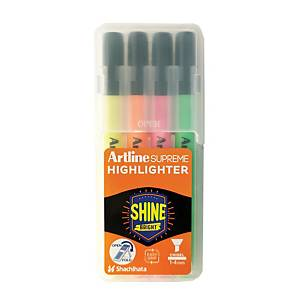 Artline EPF600 Supreme Highlighters Assorted Color - Pack of 4