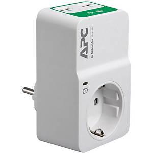 APC ESSENTIAL Überspannungsschutz für 230V, 2 USB-Ladeausgänge, weiß