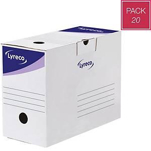 Caixa de arquivo Lyreco - A4 - lombada 150mm - branco