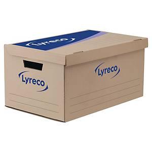 Pack de 10 contenedores de archivos Lyreco - lomo de 350mm - kraft/azul