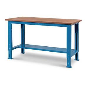 Banco da lavoro Fami Work Steel up con pianale in legno blu