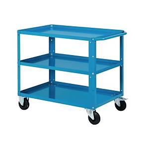 Carrello Clever 3 ripiani Fami con ruote pivottanti - blu