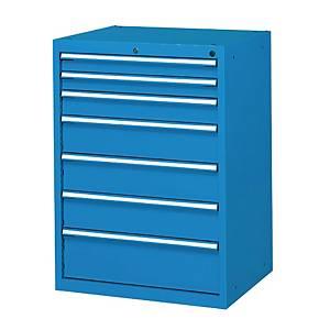 Cassettiera porta utensili Fami Flexa 7 cassetti in acciaio blu