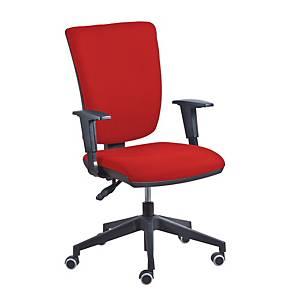Sedia Comfort con meccanismo BackSystem regolabile - rosso