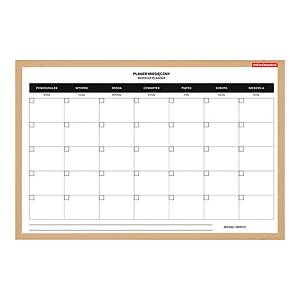 MEMOBOARDS MAGN MONTH PLANNER PINE 60X40
