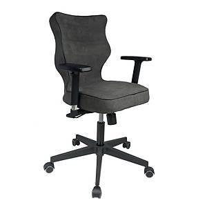 Krzesło biurowe ENTELO NERO, ciemnoszare