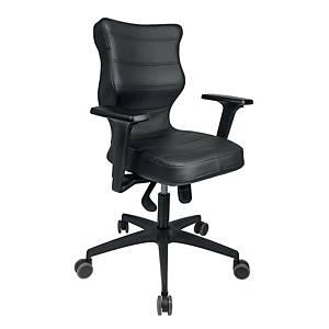 Krzesło biurowe ENTELO PERTO, czarny ekoskóra