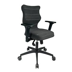 Krzesło biurowe ENTELO PERTO, antracyt antara lux