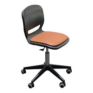Krzesło obrotowe ERGOS SHELL z poduszką, czarne