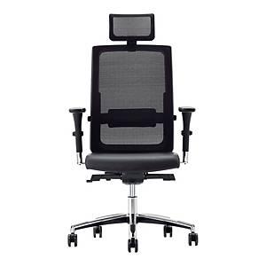Krzesło biurowe NOWY STYL MALMO, ekoskóra, czarne