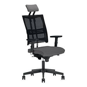 Krzesło biurowe NOWY STYL Officer, szare melanż