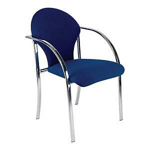 Krzesło konferencyjne NOWY STYL SOFIA, granatowe