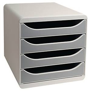 Exacompta  4-drawer grey